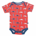 Kickee Pants Short Sleeve Onesie in Poppy Surf Trip