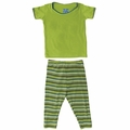 Kickee Pants Short Sleeve Pajama in Island Boy Stripe