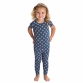 Kickee Pants Short Sleeve Pajama in Twilight Dot