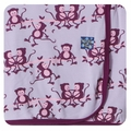 Kickee Pants Swaddling Blanket in Thistle Monkey