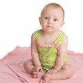 Kickee Pants Sweetie Pie Romper in Meadow Flower Lattice