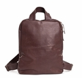 Kisim Timeless Women Uno Soft Leather Backpack in Brown