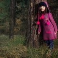 Mim Pi Into the Woods Sweater Dress with Hoodie