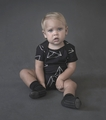 Nununu Geometric Onesie in Black
