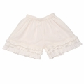 Persnickety Cream Triple Ruffle Shorts - size 7 & 8 left!