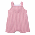 Petit Bateau Baby Boy Red Striped Overall - Coming soon!