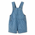 Petit Bateau Baby Boy Short Dungarees in Denim - size 18M left!