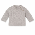 Petit Bateau Baby Boy Warmer Cable Knit Sweater - last one size 24M!