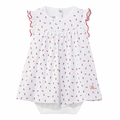 Petit Bateau Baby Girl Floral Printed Bodysuit Dress