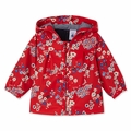 Petit Bateau Baby Girl Japanese Floral Rain Coat in Red - Coming soon!
