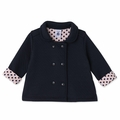 Petit Bateau Baby Girl Padded Jacket in Navy - Coming soon!