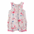 Petit Bateau Baby Girl Rose Printed Bubble - Coming soon!