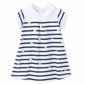 Petit Bateau Baby Girl Sailor Stripe Dress with Dots - size 24M left!