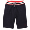 Petit Bateau Big Boy Navy Heavy Fleece Shorts