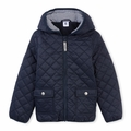 Petit Bateau Big Boy Quilted Nylon Jacket in Navy