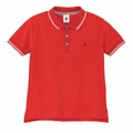 Petit Bateau Big Boy Terry Polo in Red - size 4Y & 6Y left!