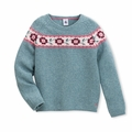 Petit Bateau Big Girls Jacquard Sweater - size 3 & 12 left!
