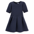 Petit Bateau Big Girls Quilted Dress in Navy - last one size 8Y!
