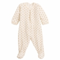 Petit bateau Christmas Velour Footie with Sparkly Gold Motif - last one size 1M!