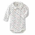 Petit Bateau French Icons Front Snap Bodysuit - size 1M left!