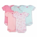 Petit Bateau Gingham 5 Pack Short Sleeve Bodysuits - last one size 12M!