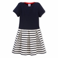 Petit Bateau Girls Box Pleat Navy Dress - last one size 4Y!