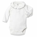 Petit Bateau Regal Neck Side Snap Bodysuit - last one size 1M!