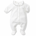 Petit Bateau Regal Neck Velour Footie - last one size 9M!