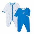 Petit Bateau Seaside Catplay 2 Piece Footie Set