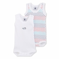 Petit Bateau Stars 2 Pack Sleeveless Bodysuits - size 18M left!
