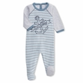 Petit Bateau Tubic Cotton Anchor Footie - last one size 3M!