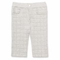 Petit Bateau Unisex Quilted Pant in Gray