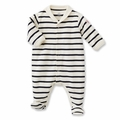 Petit Bateau Iconic Unisex Sailor Stripe Collard Footie - size 1M left!