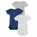 Petit Bateau Vintage Nautical 3 Pack Short Sleeve Bodysuits