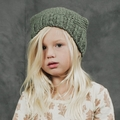 Rylee and Cru Nubby Knit Beanie in Moss