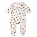 Under the Nile Flannel Side Snap Footie in Panda Print