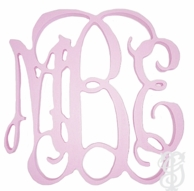"20"" Interlocking Script Wood Wall Monogram - UNFINISHED"