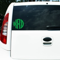 "5"" Round Monogram Decal"