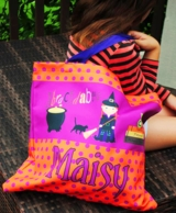 Abracadabra Personalized Halloween Candy Tote