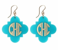 Acrylic Bridgeport Monogram Earrings