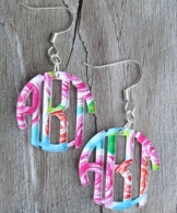 Acrylic Monogram Earrings - Mary Beth Goodwin Prints!