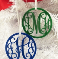 Acrylic Monogram Holiday Ornament