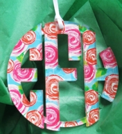 Acrylic Monogram Ornament - Mary Beth Goodwin Patterns!