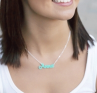 Acrylic Script Name Necklace - CHOOSE YOUR COLOR!
