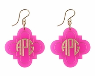 Acrylic Waverly Monogram Earrings
