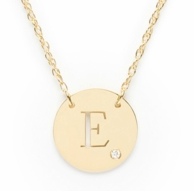 ALIA Cut Initial in Circle Necklace