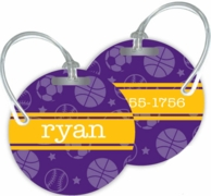 All Star Personalized Bag Tags - SET OF 2 - CHOOSE YOUR DESIGN!