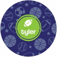 All Star Personalized Kids Plate - CHOOSE YOUR DESIGN!