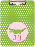 Alligator Girl Personalized Clipboard