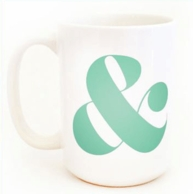 Ampersand Coffee Mug - CHOOSE YOUR COLOR!